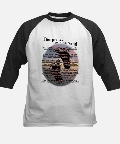 Footprints In The Sand Kids Baseball Jersey
