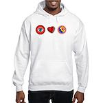 I Love 9 Ball Hooded Sweatshirt