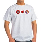 I Love 9 Ball Ash Grey T-Shirt