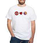 I Love 9 Ball White T-Shirt