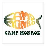 Camp Monroe Fish Square Car Magnet 3