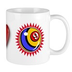 I Love 9 Ball Mug