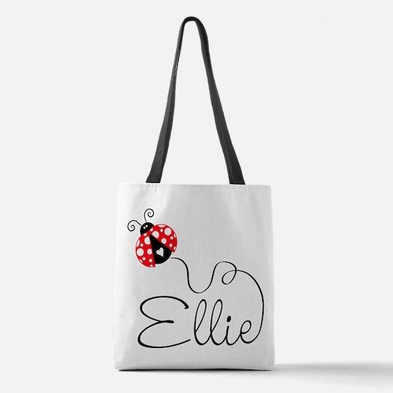 Ladybug Ellie Polyester Tote Bag