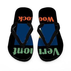 29144a0aba9f39 Woodstock Flip Flops - CafePress