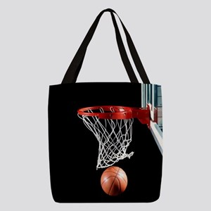 Basketball Point Polyester Tote Bag
