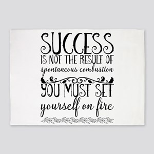 Success is not the result of sponta 5'x7'Area Rug