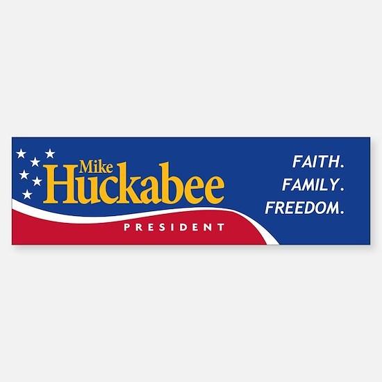 Mike Huckabee for President Bumper Bumper Bumper Sticker