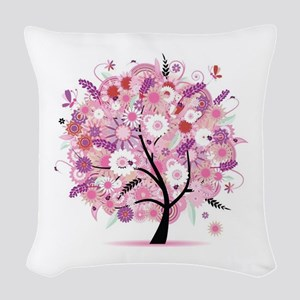 Tree of Life 22 Woven Throw Pillow