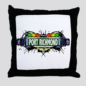 Port Richmond, Staten Island NYC (White) Throw Pil
