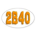2b40 Oval Sticker