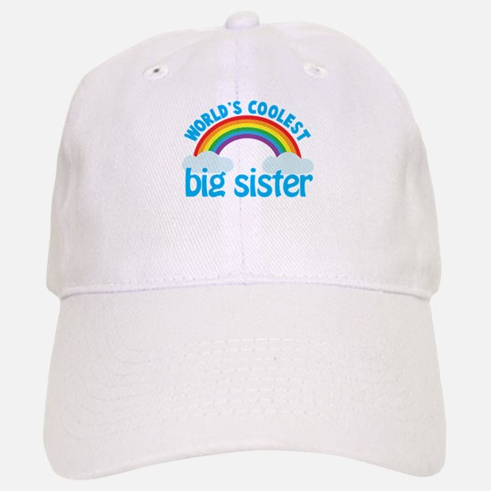 world's coolest big sister rainbow Baseball Baseball Cap