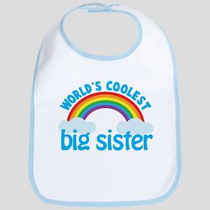 world's coolest big sister rainbow Bib