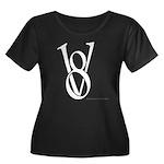 V8 Women's Plus Size Scoop Neck Dark T-Shirt