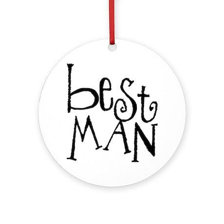 Best Man Graffiti Ornament (Round)