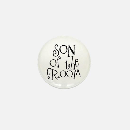 Son of the Groom Graffiti Mini Button