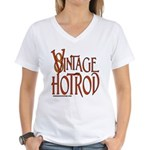 Vintage Hotrod Women's V-Neck T-Shirt