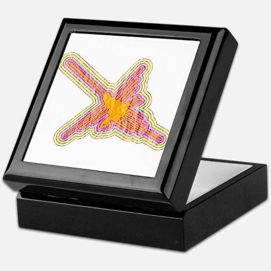 Nazca Lines Hummingbird With Wrinkled Keepsake Box