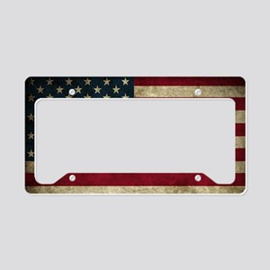 USA Flag - Grunge License Plate Holder