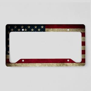USA Flag - Grunge License Plate Holder