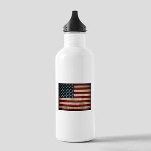 USA Flag - Grunge Water Bottle