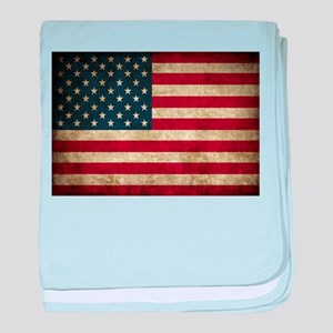 USA Flag - Grunge baby blanket