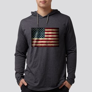 USA Flag - Grunge Long Sleeve T-Shirt