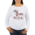 8 cylinders Women's Long Sleeve T-Shirt