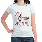 8 cylinders Jr. Ringer T-Shirt