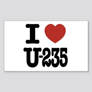 I Love U-235 Rectangle Sticker