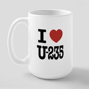 I Love U-235 Large Mug