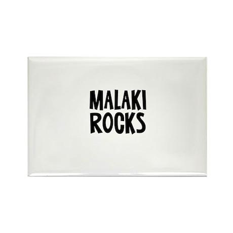 Malaki Rocks Rectangle Magnet