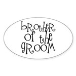 Brother of the Groom Graffiti Oval Sticker