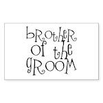 Brother of the Groom Graffiti Sticker (Rectangular