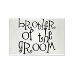 Brother of the Groom Graffiti Rectangle Magnet
