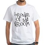 Brother of the Groom Graffiti White T-Shirt