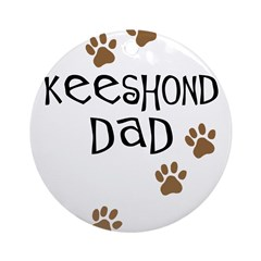 Keeshond Dad Ornament (Round)