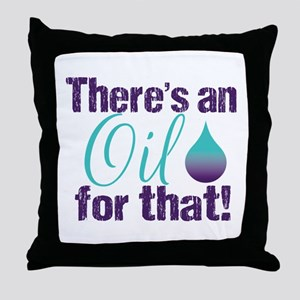 Oil for that purteal Throw Pillow