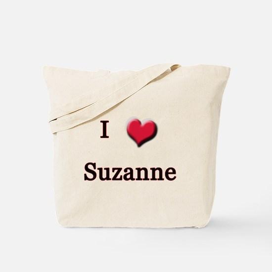 I Love (Heart) Suzanne Tote Bag