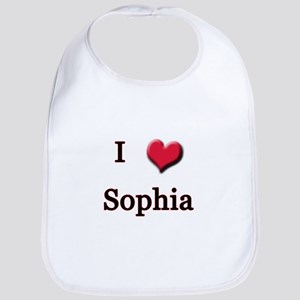 I Love (Heart) Sophia Bib