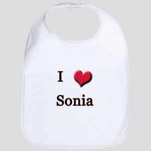 I Love (Heart) Sonia Bib