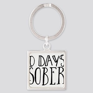 0 Days Sober Keychains