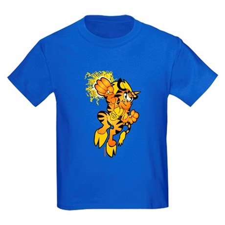 Color Tigrikorn Power Punch Kids Dark T-Shirt