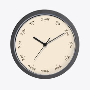 Quaint Wall Clock with German Numbers