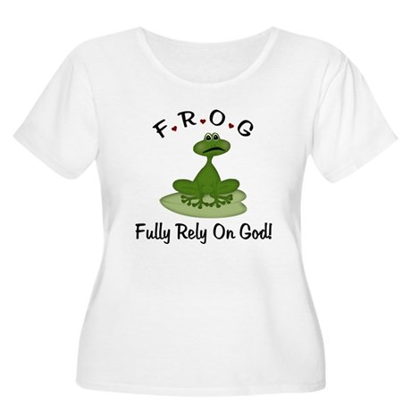 Fully Rely on God Women's Plus Size Scoop Neck T-S