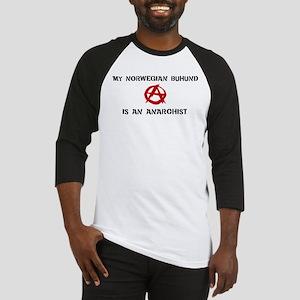 Norwegian Buhund anarchist Baseball Jersey