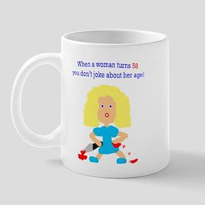 58 age humor Mug