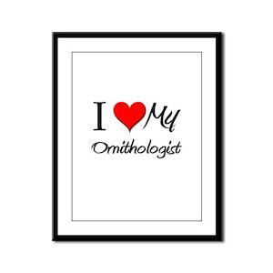 I Heart My Ornithologist Framed Panel Print