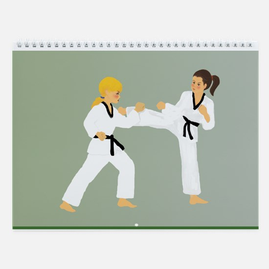 Cute Black belt Wall Calendar