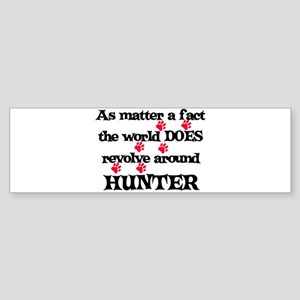 The World Revolves Around Hun Bumper Sticker