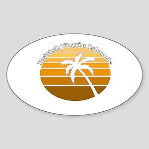 British Virgin Islands Oval Sticker